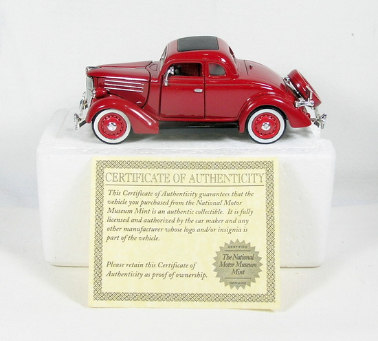 Diecast Replica of 1936 Ford Deluxe 5-Window Coupe From National Motor Muse