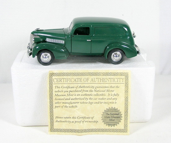 Diecast Replica of 1939 Chevy Sedan Delivery From National Motor Museum Min