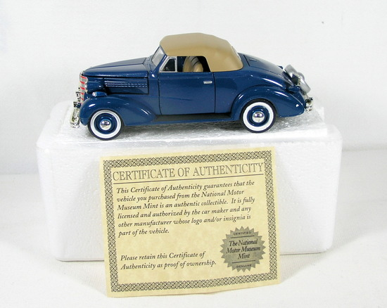 Diecast Replica of 1938 Chevrolet Master Convertible Cabriolet From Nationa