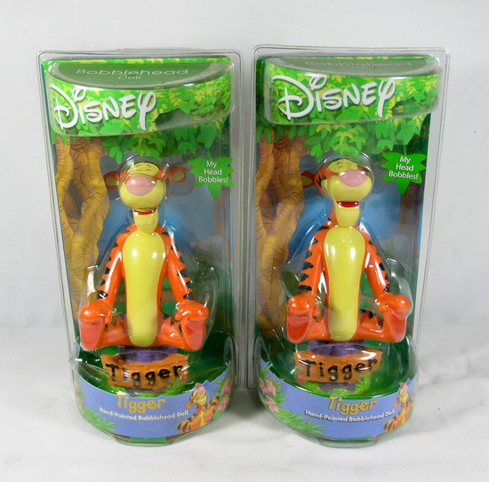 (2) Alexander Global Promotions INC. Disneys Tigger Hand Painted Bobble Hea