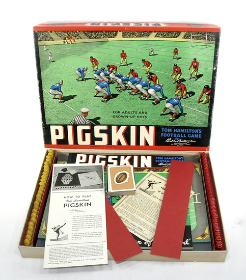 """1946 Tom Hamiltons """"Pigskin"""" Football Board Game by Parker Brothers Inc. Co"""
