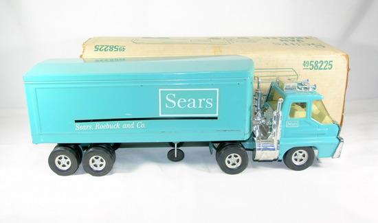 Vintage Struccto Sears & Roebuck Model M 348-3 Van and Trailer. Excellent U