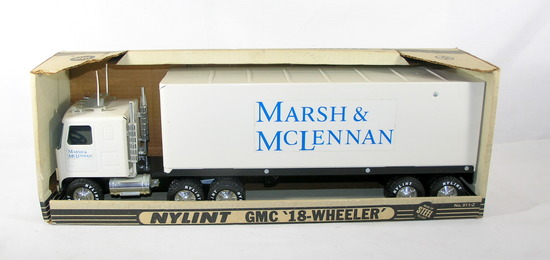 Vintage Nylint GMC 18-Wheeler For Marsh & McLennen one of the worlds larges