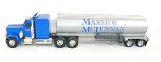 Vintage Ertl Tractor Trailer For Marsh & McLennen one of the worlds largest