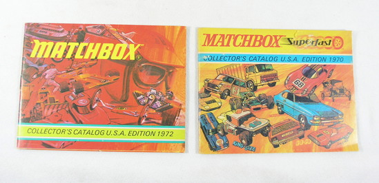 (2) Vintage 1970 and 1972 Editions Matchbox Collectors Catalogs USA.
