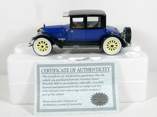 Diecast Replica of 1918 Cadillac Type 57 Victoria from National Motor Museu