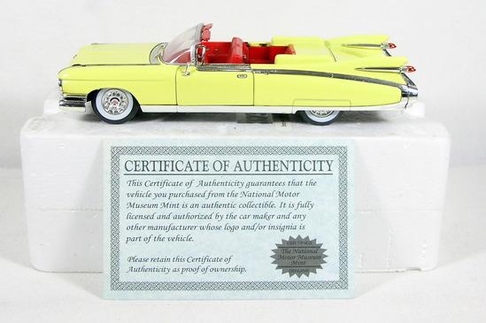Diecast Replica of 1959 Cadillac Eldorado Biarritz from Signature Models fo