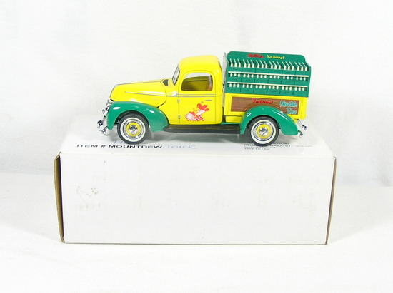 Diecast Replica of 1940 Ford Mountain Dew Delivery Truck from Signature Mod