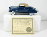 Diecast Replica of 1939 Ford Deluxe Convertible Coupe From National Motor M