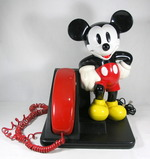 1990s AT&T Mickey Mouse Telephone. Very Good Used Working Condition. Ringer