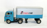 Vintage Japan Tin Friction Drive White Freightliner #6013041 TC Transcon Se