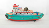 Vintage 1960s Modern Toys Battery Operated Tug Boat. Only Missing Round  Sm