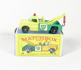 Vintage Matchbox Diecast Replica #13 Dodge Wreck Truck With Box. A Lesney P