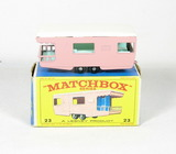 Vintage Matchbox Diecast Replica #23 Trailer Caravan With Box. A Lesney Pro