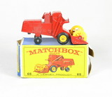 Vintage Matchbox Diecast Replica #65 Claas Combine Harvester With Box. A Le