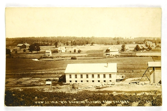 25.  RPPC:  c1910 View at Iola, Wis. Showing Clothes Reel Factory.  CONDITI