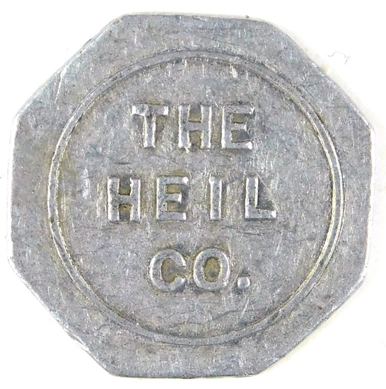 64.  Wisconsin Aluminum Trade Token:  The Heil Co. (Milwaukee) –Good for 5c