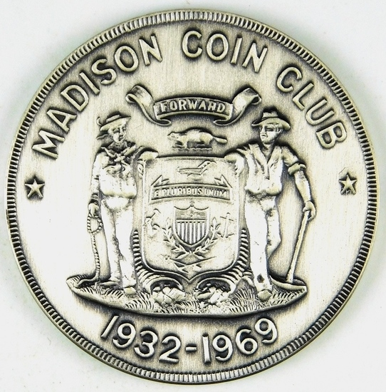 73.  1969 Madison, Wisconsin Nickel Convention Medal – 2nd Issue for the Nu