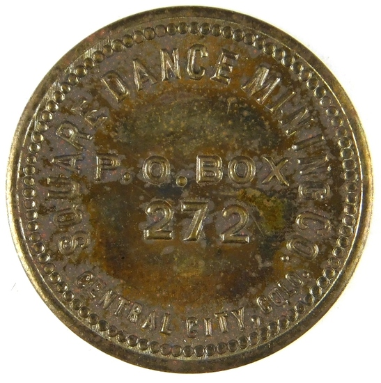 75.  1930's Brass Token for Square Dance Mining Company Central City, Colo.