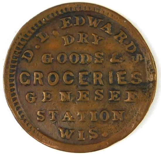 331.  1864 Genesee Station, Wis. D. L. Edwards Dry Goods & Groceries; FULD: