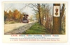 O7.  Printed Post Card:  c1920 (J.I.) Case Steam Roller building Country Ro