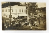 31.  RPPC:  1909 Camels and elephants crossing bridge at Northwestern Hotel