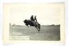 45.  RPPC:  1930's / 1940's Wolf Point (Montana) Stampede Dark Shirt Rider