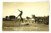 "49.  RPPC:  1916 ""Stay A Longtime Workman"" Glendive, (Montana) Round-Up.  N"