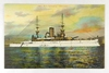 """51.  Printed Post Card:  1920's U.S. Battleship """"Wisconsin"""".  This famous s"""