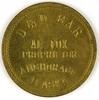 52.  Alaska Brass Trade Token:  D & D Bar / Al Fox / Proprietor Anchorage /