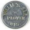 54.  Wisconsin Aluminum Trade Token:  Willie's Bar Plover Wis. – Good For 1
