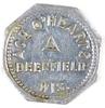 65.  Wisconsin Aluminum Trade Token:  Ace O' Hearts / Deerfield Wis. – Good