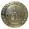 66.  Consolidated Paper Co. / J. / 9284 Nickel Employee Identification Badg