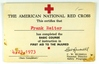 81.  1973 American Red Cross First Aid Basic Course Completion Card issued