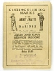 91.  1917 8 page fold-out of Distingushing Marks of the Army-Navy and Marin