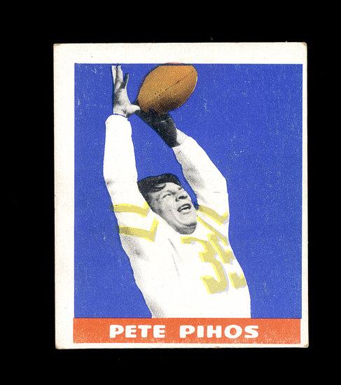 1948 Leaf ROOKIE Football Card #16 Rookie Hall of Famer Pete Pihoes Philade
