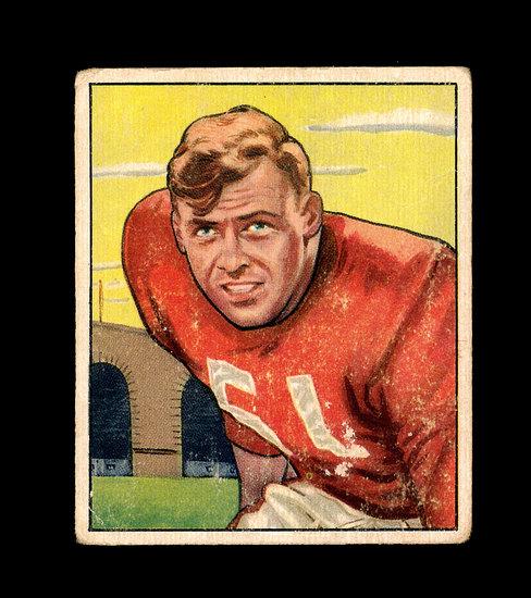 1950 Bowman Football Card #34 Gail Bruce San Francisco 49ers.