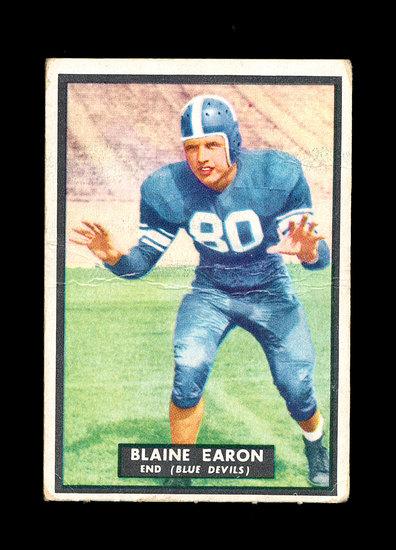 1951 Topps Magic Football Card #20 Blaine Earon.