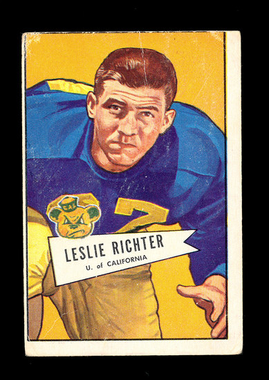 1952 Bowman Large ROOKIE Football Card #61 Rookie Hall of Famer Leslie Rich
