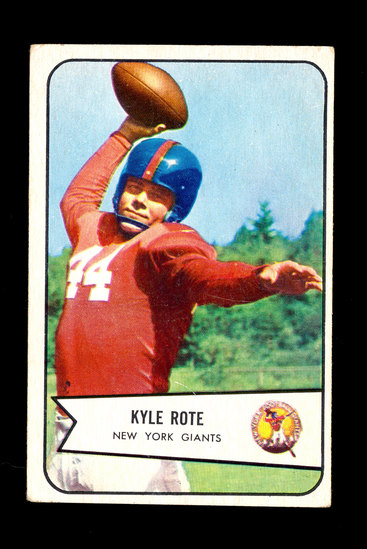 1954 Bowman Football Card #7 Kyle Rote New York Giants.