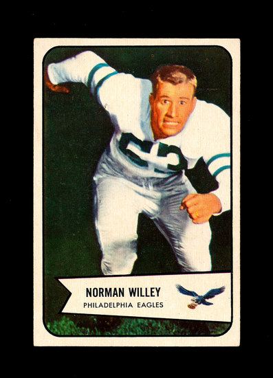 1954 Bowman Football Card #21 Norman Willey Philadelphia Eagles.