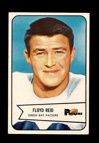 1954 Bowman Football Card #22 Floyd Reid Green Bay Packers.