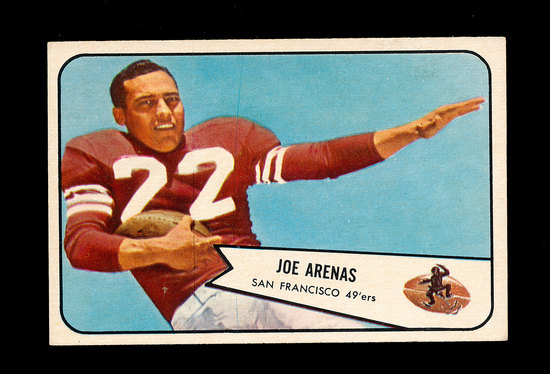 1954 Bowman Football Card #30 Joe Arenas San Francisco 49ers.
