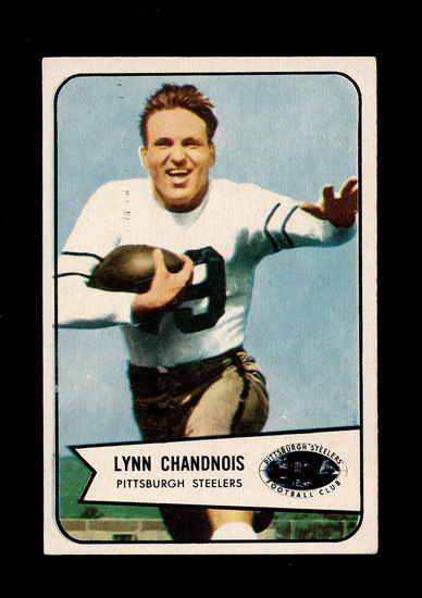 1954 Bowman Football Card #49 Lynn Chadnois Pittsburgh Steelers.