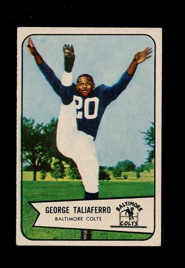 1954 Bowman Football Card #50 George Taliaferro Baltimore Colts.