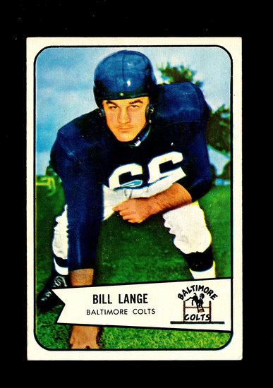 1954 Bowman Football Card #62 Bill Lange Baltimore Colts.