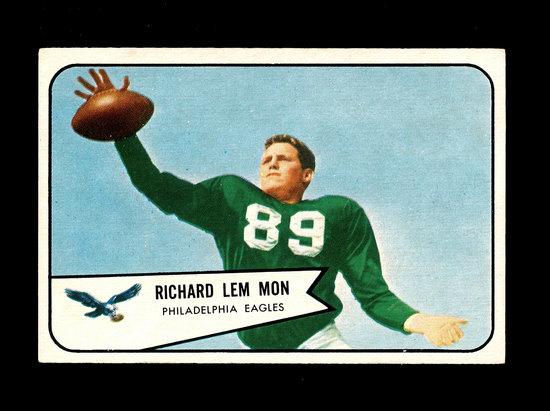 1954 Bowman Football Card #114 Richard Lem Mon Philadelphia Eagles.