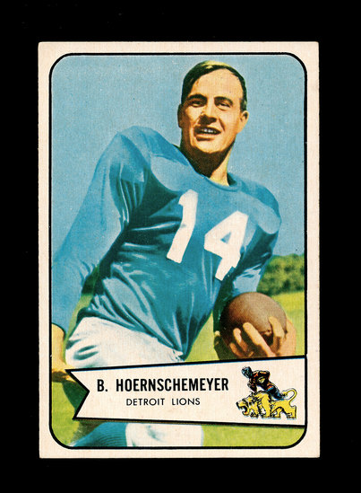 1954 Bowman Football Card #124 Bob Heornschemeyer Detroit Lions.