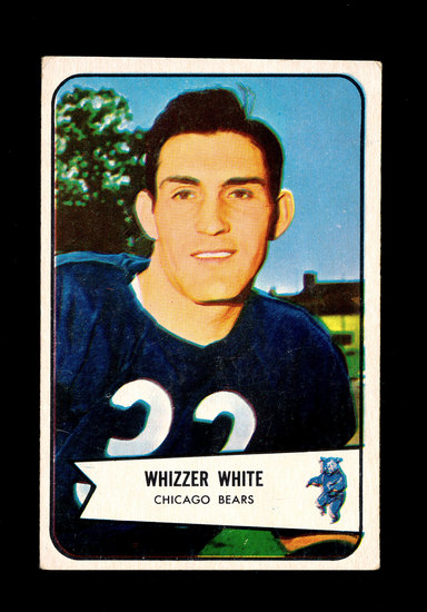 "1954 Bowman ROOKIE Football Card #125 Rookie Wilford ""Whizzer"" White Chicag"
