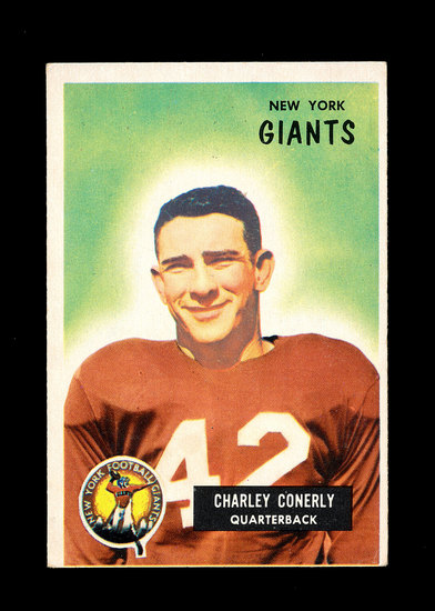 1955 Bowman Football Card #16 Charlie Conerly New York Giants.